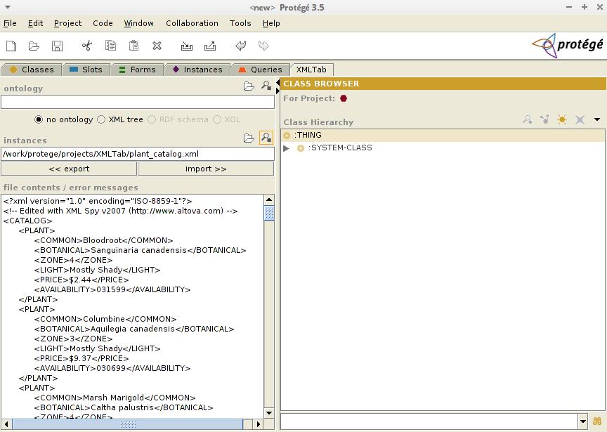 Xml Tab Protege Wiki